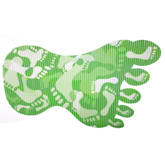 BABY STEPS Foot Print Anti-Slip Safety Bath Mat (Green) Price Philippines