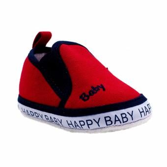 BABY STEPS Happy Baby Boy Shoes (Red)