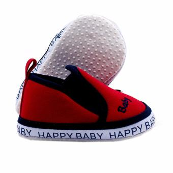 BABY STEPS Happy Baby Boy Shoes (Red) - 2