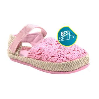 BABY STEPS Knitted Baby Girl Sandals (Pink)