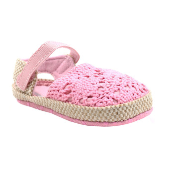 BABY STEPS Knitted Baby Girl Sandals (Pink) - 2