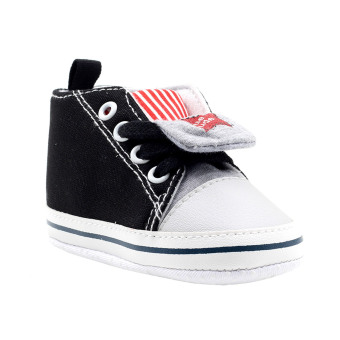 BABY STEPS Little Dude Star Baby Boy Shoes (Black) Price Philippines