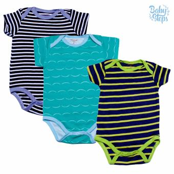 Baby Steps Onesie 6 Months Baby Boy Bodysuit One-Piece (Multicolor)Set of 3