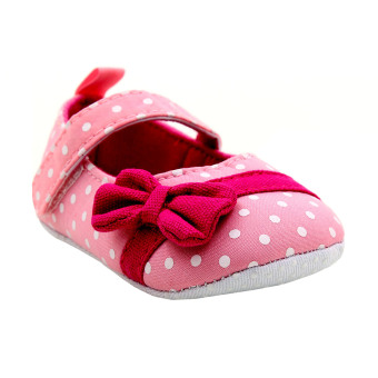 BABY STEPS Polka Dots Baby Girl Sandals (Light Pink)