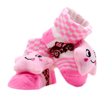 Baby Steps Starmi Boards Newborn Baby Girl Socks (Pink)