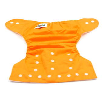 BABY STEPS Tricolor Orange-Yellow-Blue Cloth Baby Diapers - 2