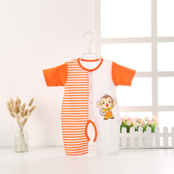 Baby Summer Cotton Short sleeved men and women cute romper baby coveralls
