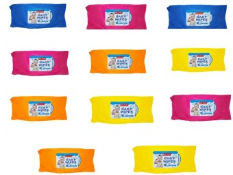 Baby Tender Baby Wipes Set of 10 (Assorted Colors)