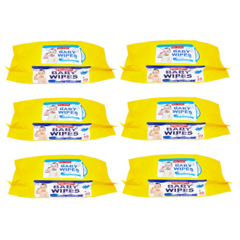 Baby Tender Baby Wipes Set of 6 (Yellow)