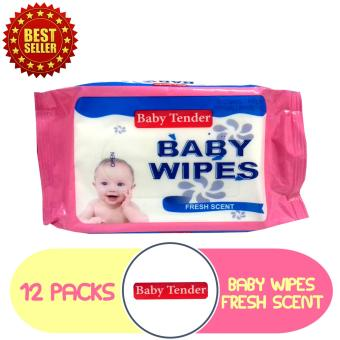 Baby Tender Baby Wipes [Y] 80's Pack of 12