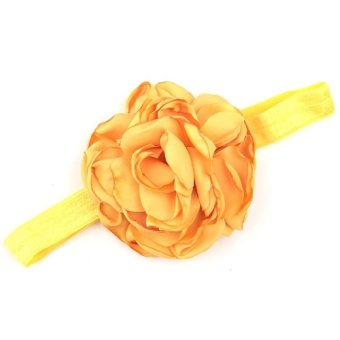 Baby Toddler Infant Flower Shape Headbands Hair Band Soft Fabric Headwear Simple Accessories Yellow - Intl