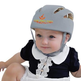 Baby Toddler Safety Helmet Headguard Children Hats Cap HarnessesGift Adjustable gray