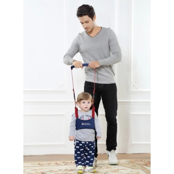 Baby Toddler Walking Assistant Waistcoat Learning Walk SafetyHarness Walker Wings Belt Learn to Walk Supports Assistant - Darkred