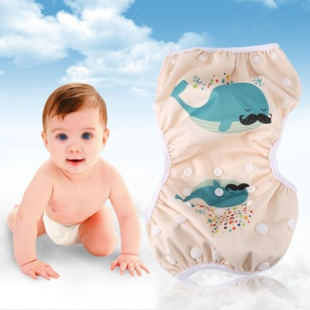 Baby Unisex Reusable Breathable Swim Diapers Summer Pool Pant withSnaps Training Pants #2 - intl