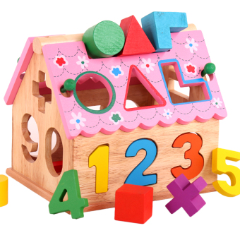 Baby with numbers dimensional wooden in infants and young children toys