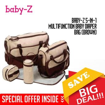 Baby-Z 5-in-1 Multifunction Baby Diaper Bag (Brown)