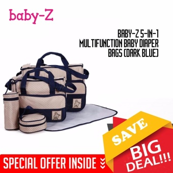 Baby-Z 5-in-1 Multifunction Baby Diaper Bags (Dark Blue)