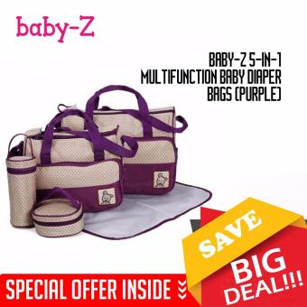 Baby-Z 5-in-1 Multifunction Baby Diaper Bags (Purple)