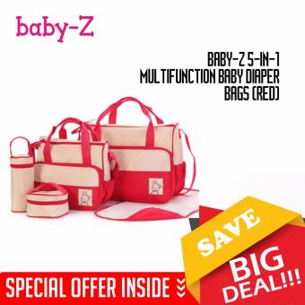 Baby-Z 5-in-1 Multifunction Baby Diaper Bags (Red)