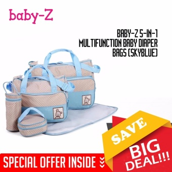 Baby-Z 5-in-1 Multifunction Baby Diaper Bags (Skyblue)