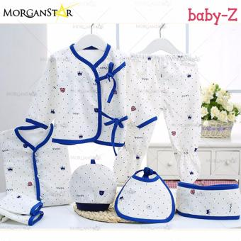 Baby-Z 7pcs Spring and Summer New Baby Clothes Cotton (BLUE)