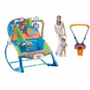 Baby-Z Fisher-Price Toddler Rocker Frog and Snail (Blue) with Moon Walk Baby Walker