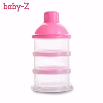 BABY-Z Transparent Baby Milk Powder Container (Pink)