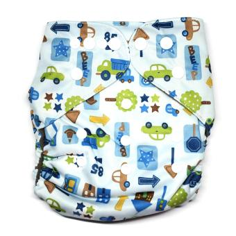 Bamboo Charcoal Little Tots Road Cloth Diaper