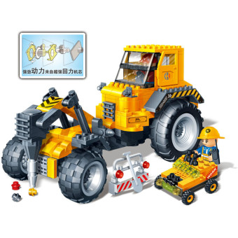 BanBao building blocks to dig soil machine building engineering vehicle