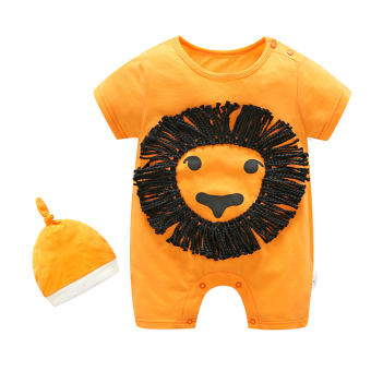 Baobao baby one-piece male and female newborns short sleeved romper