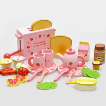 Baobao bread machine children's kitchen Wooden Toys