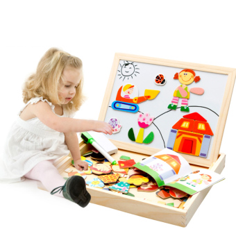 Baobao Children's Early Childhood Yi Zhi wooden toys magnetic puzzle