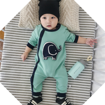 Baobao cotton baby one-piece autumn crawling clothes