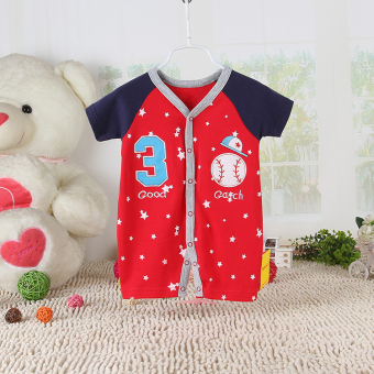 Baobao cotton newborns summer climbing clothes baby coveralls