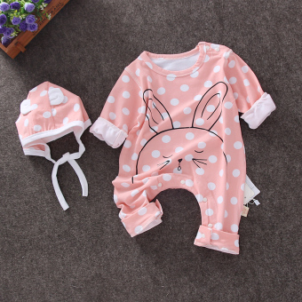 Baobao cotton spring newborns men and long-sleeved romper baby coveralls