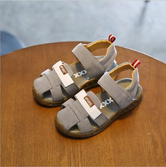 Baobao leather baby non-slip children's sandals children's sandals