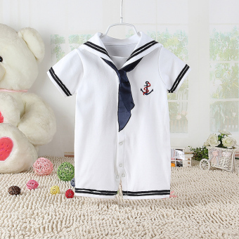 Baobao Navy clothes baby jumpsuit baby coveralls