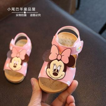 Baobao princess soft bottom a anniversery female children's shoes leather shoes