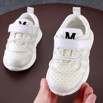 Baobao soft Bottom Boys and Girls white shoes Baobao toddler shoes