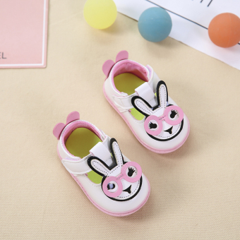 Baobao soft bottom Spring and Autumn rabbit baby non-slip toddler shoes