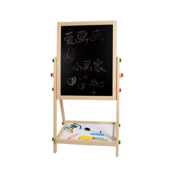 Baobao wood double-sided magnetic sketchpad easel