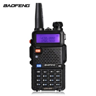 BaoFeng UV-5R Walkie Talkie Dual Band VHF/UHF136-174Mhz & 400-520Mhz Handheld Two Way Radio (BLACK)