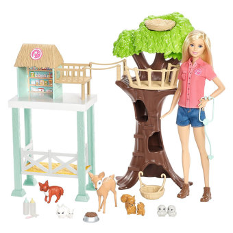 Barbie fcp78 pet Gift Box animal Barbie doll