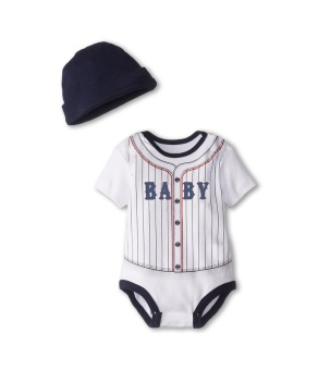 Baseball Jumpsuits with hat for Newborn Baby Girls Boys ShortSleeve Sport Style One Piece Rompers Baby Summer Clothes for 0-24Monthes Olds - intl