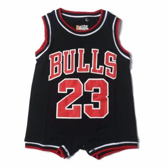 Basketball Romper BULLS (Black) for 6 to 9 Months Old Price Philippines