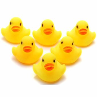 Bath Toys Rubber Squeaky Duck Set of 5 (Intl)