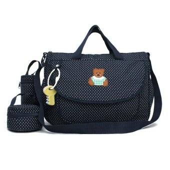Bear Dots Women Shoulder Bag Baby Nappy Diaper Bag Mummy's PramChanging Bag Price Philippines