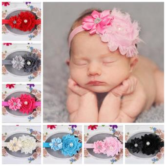Bear Fashion 12pcs Newborn Baby Girls Kids Children Colorful FlowerHair Band Toddler Headband Hairwear - intl Price Philippines