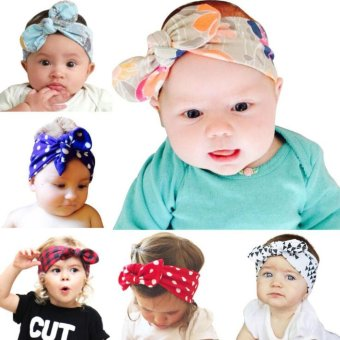 Bear Fashion 6pcs Baby Girls Head Bands Hair Accessories - intl
