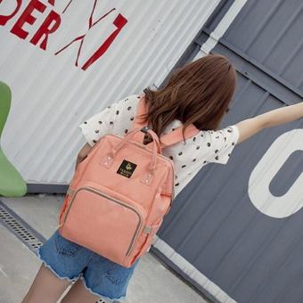 Beau Large Capacity Backpack Mummy Bag Baby Water Feeding Bottle Diaper Bag Orange-pink - intl - 4